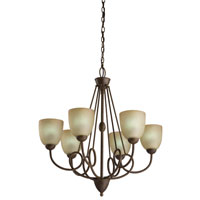 Lithonia Lighting Florentine Chandeliers in Gold Bronze 10886-BZG