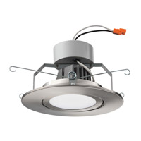 Lithonia Lighting Gimbal 6 in. LED Recessed Downlighting Module in Brushed Nickel with White Acrylic Shade 6G1BN-LED-M6
