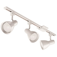 Step Baffle 3 Light 120V Matte White Track Kit Ceiling Light in BR30 LED Bulb Included