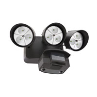 Lithonia Lighting LED Floodlight 3-Light Motion Sensor in Black Bronze OFLR-9LC-120-MO-BZ