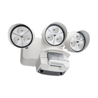 Lithonia Lighting LED Floodlight 3-Light Motion Sensor in White OFLR-9LC-120-MO-WH