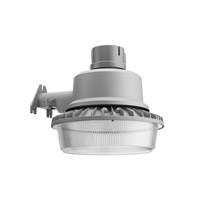 Lithonia Lighting Wall/Post Mount LED Area Security Light in Grey with Polycarbonate Shade TDD-LED-2-50K-120-PER-M4