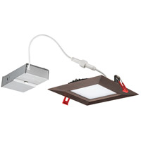 Wafer Ultra Thin Square Integrated LED Board Oil Rubbed Bronze Recessed Ceiling Light in Baffle, 2700K, 6-inch