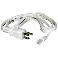 Undercabinet Accessories 120V 60 inch White Undercabinet Powercord, 5-foot