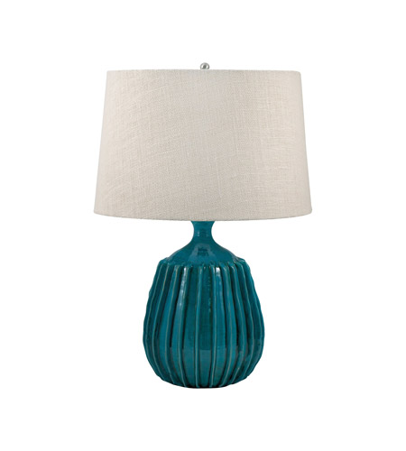 Terra cotta 24 inch 100 watt sky blue table lamp portable for 100 watt table lamps