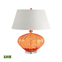Recycled Glass 25 inch 9.5 watt Orange Table Lamp Portable Light