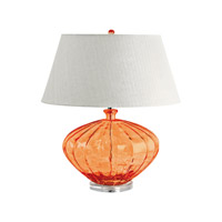 Recycled Glass 25 inch 100 watt Orange Table Lamp Portable Light in E26