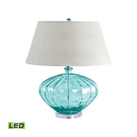 Recycled Glass 25 inch 9.5 watt Blue Table Lamp Portable Light