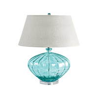 Recycled Glass 25 inch 100 watt Blue Table Lamp Portable Light in E26