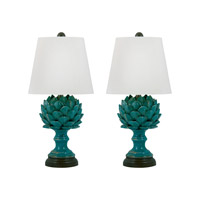 Terra Cotta 20 inch 100 watt Blue Table Lamp Portable Light in E26