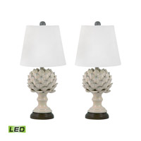Terra Cotta 20 inch 9.5 watt Cream Table Lamp Portable Light in LED