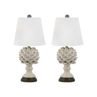 Terra Cotta 20 inch 100 watt Cream Table Lamp Portable Light in E26