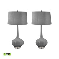 Del Mar 32 inch 9.5 watt Grey Table Lamp Portable Light in LED