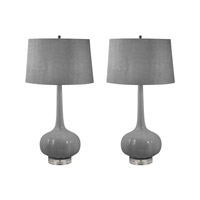 Del Mar 32 inch 100 watt Grey Table Lamp Portable Light in E26
