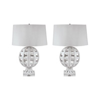 Lamp Works Ceramic 1 Light Table Lamp in White 274/S2