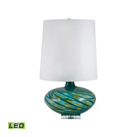Big Bang 29 inch 9.5 watt Blue Swirl Table Lamp Portable Light in LED