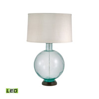Recycled Glass 31 inch 9.5 watt Aquamarine Table Lamp Portable Light