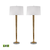 Mercury Glass 37 inch 9.5 watt Mercury Gold Table Lamp Portable Light in LED