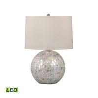 Mother of Pearl 26 inch 9.5 watt Mother of Pearl Table Lamp Portable Light in LED