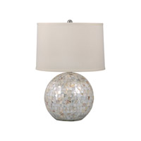 Mother of Pearl 26 inch 100 watt Mother of Pearl Table Lamp Portable Light in E26