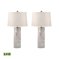 Mother of Pearl 28 inch 9.5 watt Mother of Pearl Table Lamp Portable Light in LED
