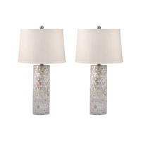 Mother of Pearl 28 inch 100 watt Mother of Pearl Table Lamp Portable Light in E26