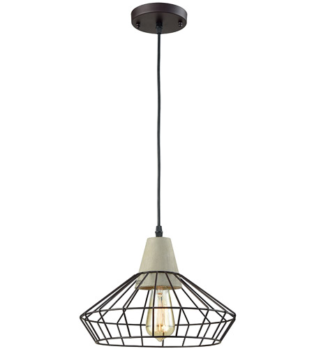 Light Visions Industrial 1 Light 14 inch Black Pendant Ceiling Light 15216-1 - Open Box photo