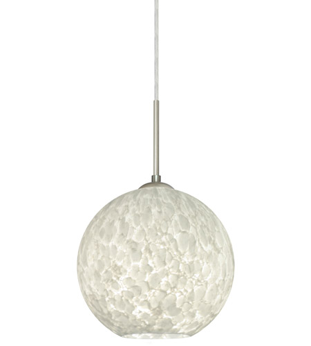 Besa Lighting Coco 8 LED Satin Nickel Cord Pendant Ceiling Light 1JT-COCO819-LED-SN - Open Box photo thumbnail