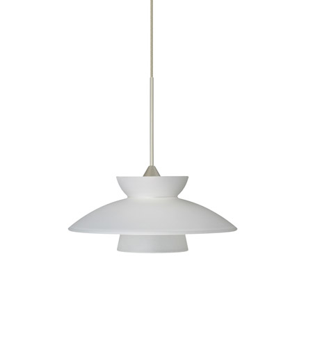 Besa Lighting Trilo LED Satin Nickel Pendant Ceiling Light in Frost Glass 1XT-271825-LED-SN - Open Box photo thumbnail
