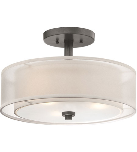 Minka-Lavery Parsons Studio 3 Light 15 inch Smoked Iron Semi Flush Mount Ceiling Light 4107-172 - Open Box  photo