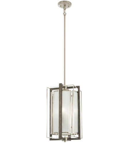 Minka Lavery Tysons Gate 4 Light 10 Inch Brushed Nickel With Shale Wood Pendant Ceiling 4562 098 Open Box
