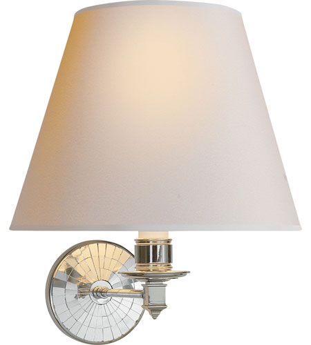 Visual Comfort Alexa Hampton Ida Wall Sconce in Polished Nickel with Natural Paper Shade AH2016PN-NP - Open Box photo