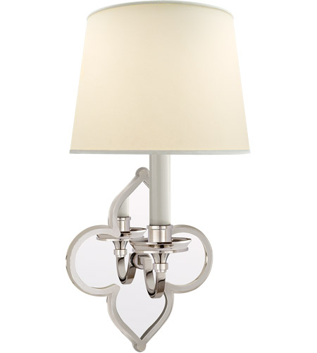 Visual Comfort Alexa Hampton Lana 1 Light 6 inch Polished Nickel Decorative Wall Light AH2040PN-PL - Open Box photo
