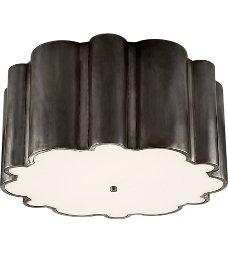Visual Comfort Alexa Hampton Markos 4 Light 26 inch Gun Metal Flush Mount Ceiling Light in Frosted Acrylic AH4021GM-FG - Open Box  photo