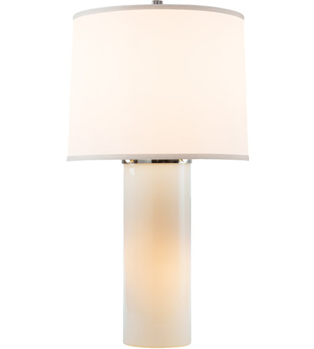 Visual Comfort Barbara Barry Moon Glow 1 Light Decorative Table Lamp in White Glass BBL3006WG-S - Open Box  photo