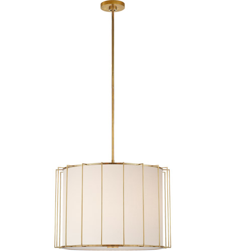 Visual Comfort Barbara Barry Carousel 2 Light 26 inch Soft Brass Lantern Pendant Ceiling Light, Large Drum BBL5014SB-L - Open Box photo