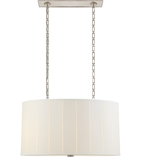 Visual Comfort R Bbl5031ss S Barbara Barry Perfect Pleat 4 Light 36 Inch Soft Silver Hanging Shade Ceiling Oval Open Box