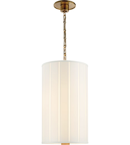 Visual Comfort Barbara Barry Perfect Pleat 2 Light 13 inch Soft Brass Hanging Shade Ceiling Light BBL5033SB-S - Open Box photo