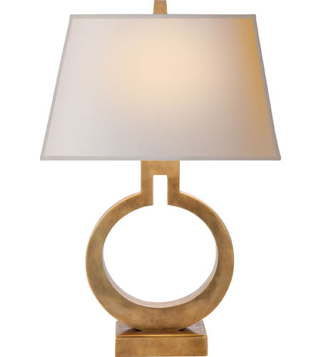 Visual Comfort E. F. Chapman Ring 20 inch 75 watt Antique-Burnished Brass Decorative Table Lamp Portable Light in Antique Burnished Brass CHA8969AB-NP - Open Box  photo