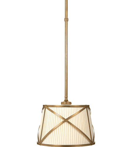 Visual Comfort E. F. Chapman Grosvenor 2 Light 15 inch Antique-Burnished Brass Hanging Shade Ceiling Light in Antique Burnished Brass CHC1480AB-L - Open Box  photo