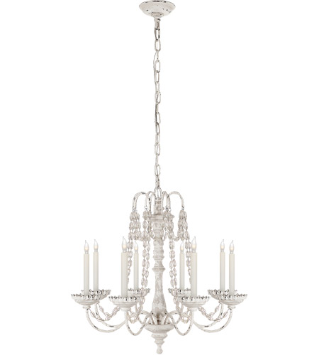 Visual Comfort E. F. Chapman Flanders 8 Light 26 inch Belgian White Chandelier Ceiling Light CHC1543BW-SG - Open Box  photo