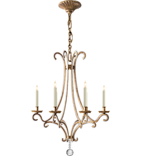 Visual Comfort E F Chapman Oslo 6 Light 23 Inch Gilded Iron With Wax Chandelier Ceiling Chc1552gi Cg Open Box