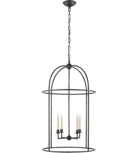 Visual Comfort E F Chapman Desmond 4 Light 21 Inch Aged Iron Foyer Lantern Ceiling Cage Chc2160ai Open Box