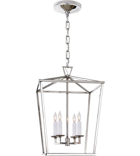 E F Chapman Darlana 4 Light 13 Inch Polished Nickel Foyer Lantern Ceiling