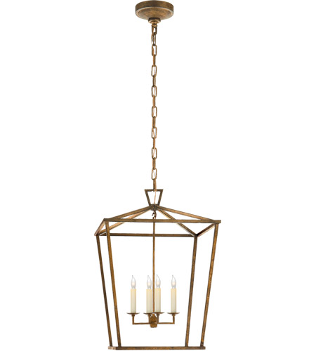 Visual Comfort E.F. Chapman Darlana 4 Light Foyer Lantern in Gilded Iron CHC2165GI - Open Box  photo