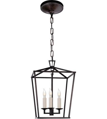 Visual Comfort E F Chapman Darlana 3 Light 10 Inch Aged Iron Foyer Pendant Ceiling Chc2175ai Open Box