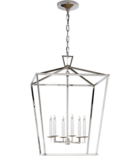 Visual Comfort E.F. Chapman Darlana 6 Light Foyer Pendant in Polished Nickel CHC2176PN - Open Box  photo