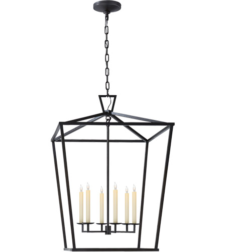 Visual Comfort E. F. Chapman Darlana 6 Light 29 inch Aged Iron Foyer Lantern Ceiling Light, E.F. Chapman, Extra Large CHC2177AI - Open Box  photo