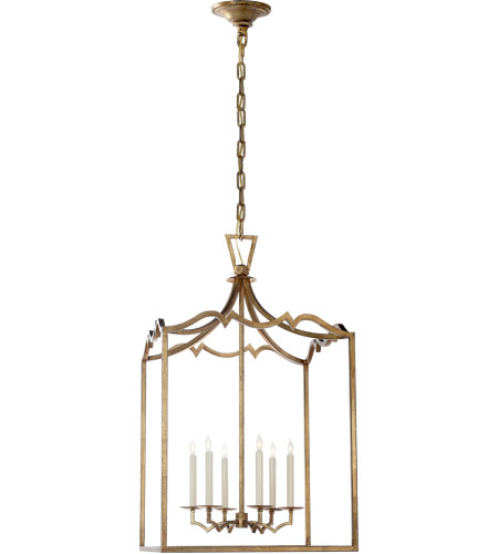Visual Comfort E. F. Chapman Darlana 6 Light 22 inch Gilded Iron Foyer Pendant Ceiling Light CHC2182GI - Open Box photo