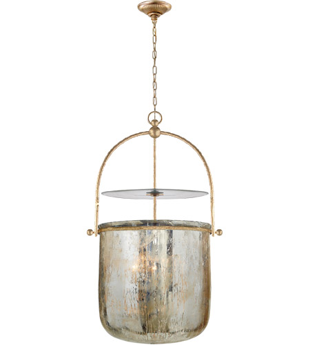 Visual Comfort E F Chapman Lorford 4 Light 20 Inch Gilded Iron Foyer Pendant Ceiling In Distressed Mercury Gl Chc2270gi Mg Open Box